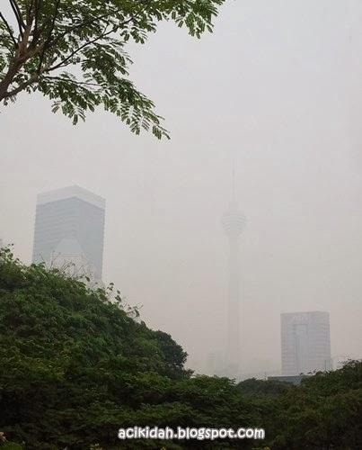 Jerebu Di Kuala Lumpur Petang Ini.