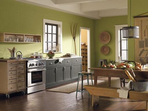 Cocinas En Color Verde Pistacho Colores En Casa