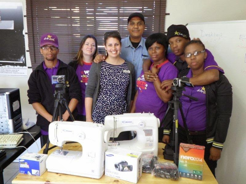 Hollywoodbets Parliament Street with the team at Zanethemba Charity Foundation - CSI - Social Responsibility
