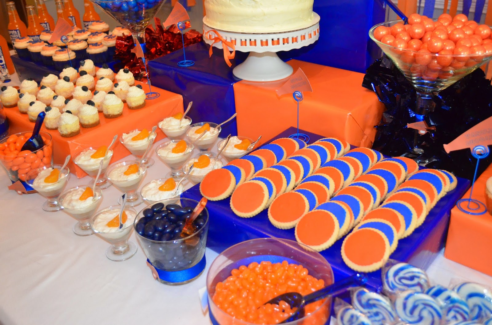 Cakegirl S Kitchen Blue And Orange Graduation Party
