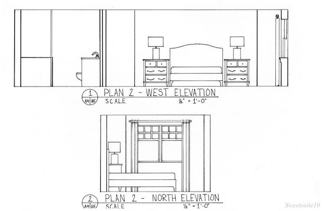 Bedroom elevations