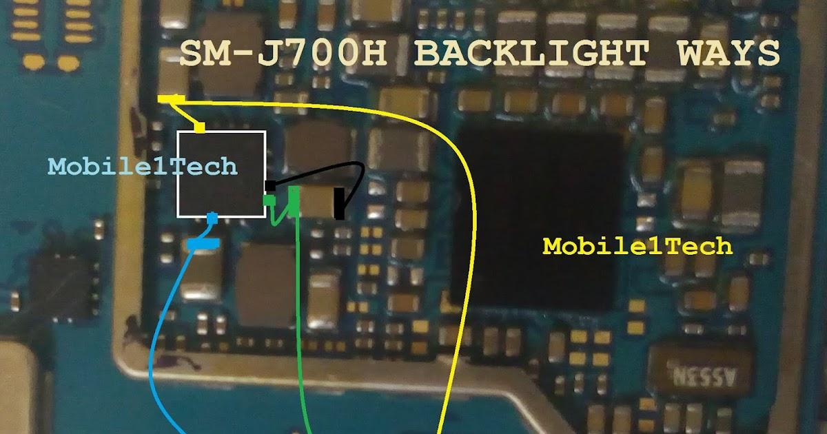 samsung j700 backlight ways