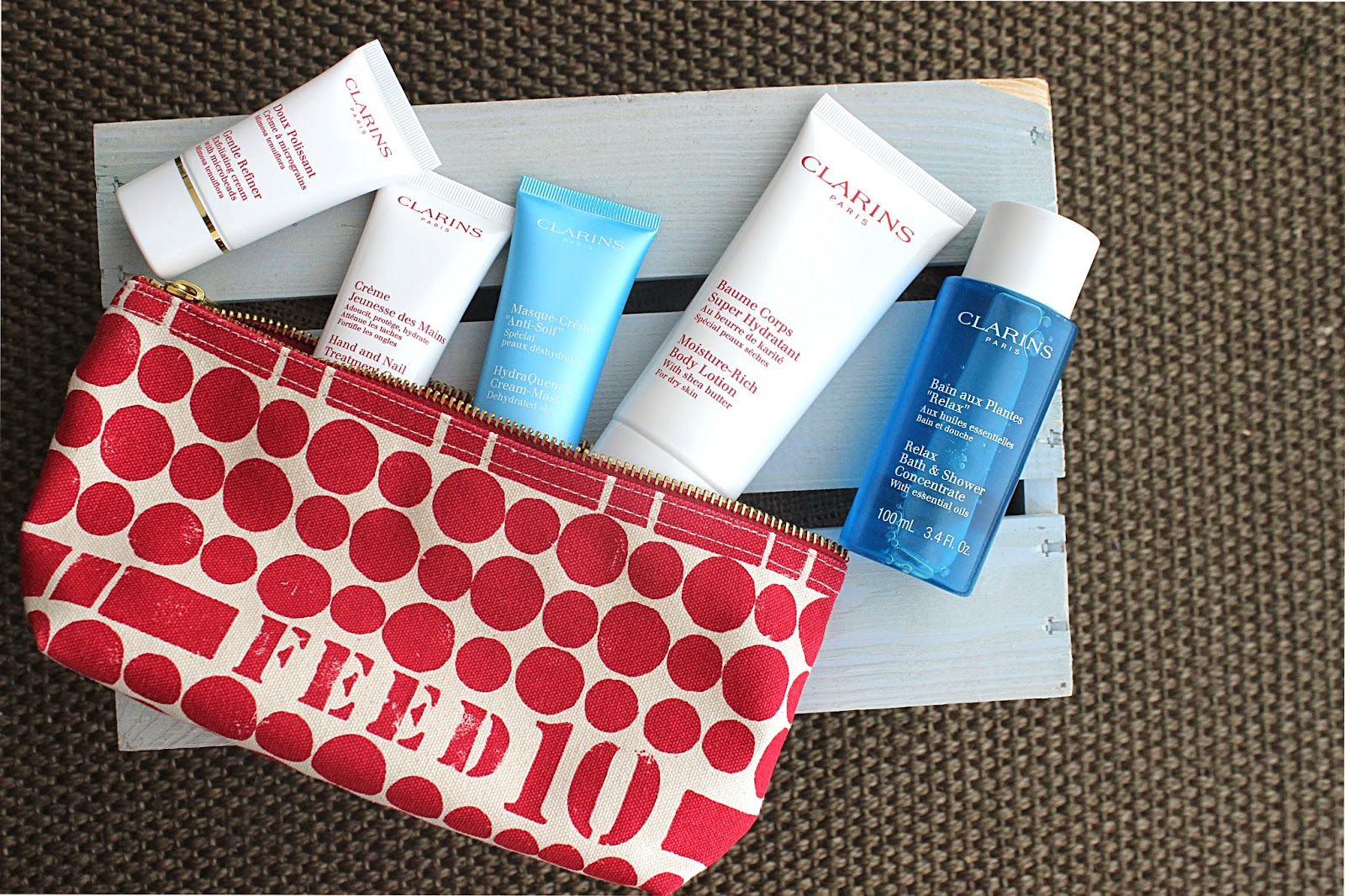 Until October 4th With Every Two Purchases Of Clarins Products You Will Receive A Feed 10 Gift Purpose Each Bag Provides Nutritious School