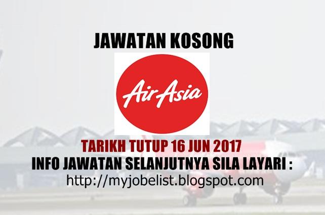 Jawatan Kosong Terkini di AirAsia Berhad Jun 2017