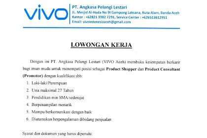 Lowongan Kerja di VIVO Aceh