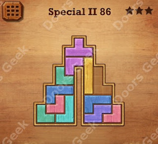 Cheats, Solutions, Walkthrough for Wood Block Puzzle Special II Level 86
