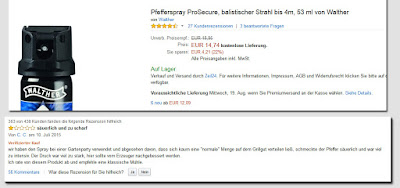Amazon Pfefferspray bewertung