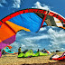 Atleta de  KiteSurf cai na praia das Pitangueiras