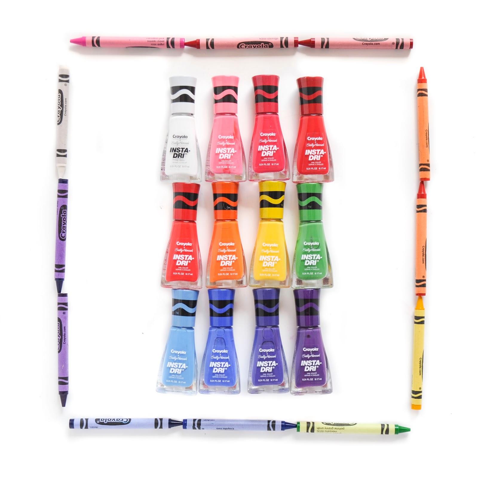 Crayola and Sally Hansen Nail Polish Collaboration   Jenny\'s Crayon ...