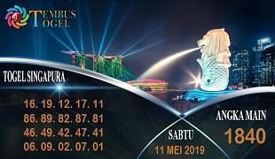 Prediksi Angka Togel Singapura Sabtu 11 Mei 2019