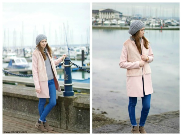 pink & grey outfit