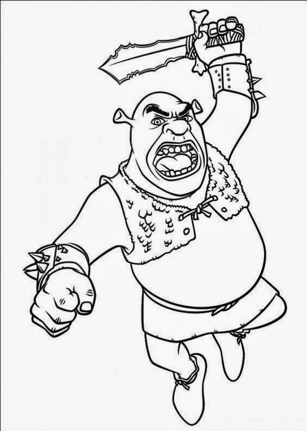 Cartoons coloring pages shrek coloring pages for Coloring pages shrek