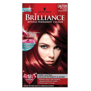 shwarzkopf brilliance luminance hair dye red passion