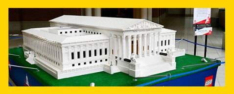 Supreme Court Building constructed from Legos