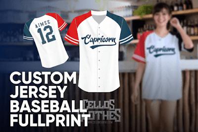Produksi Jersey Baseball Full Printing Tanpa Batasan Warna