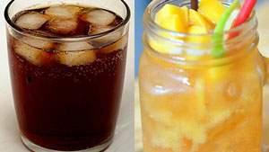mengurangi asupan gula dengan mengganti soft drink deng jus buah