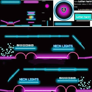 Download Livery Bus Neon Light