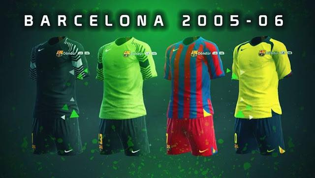 FC Barcelona 2005-2006 Kit PES 2013