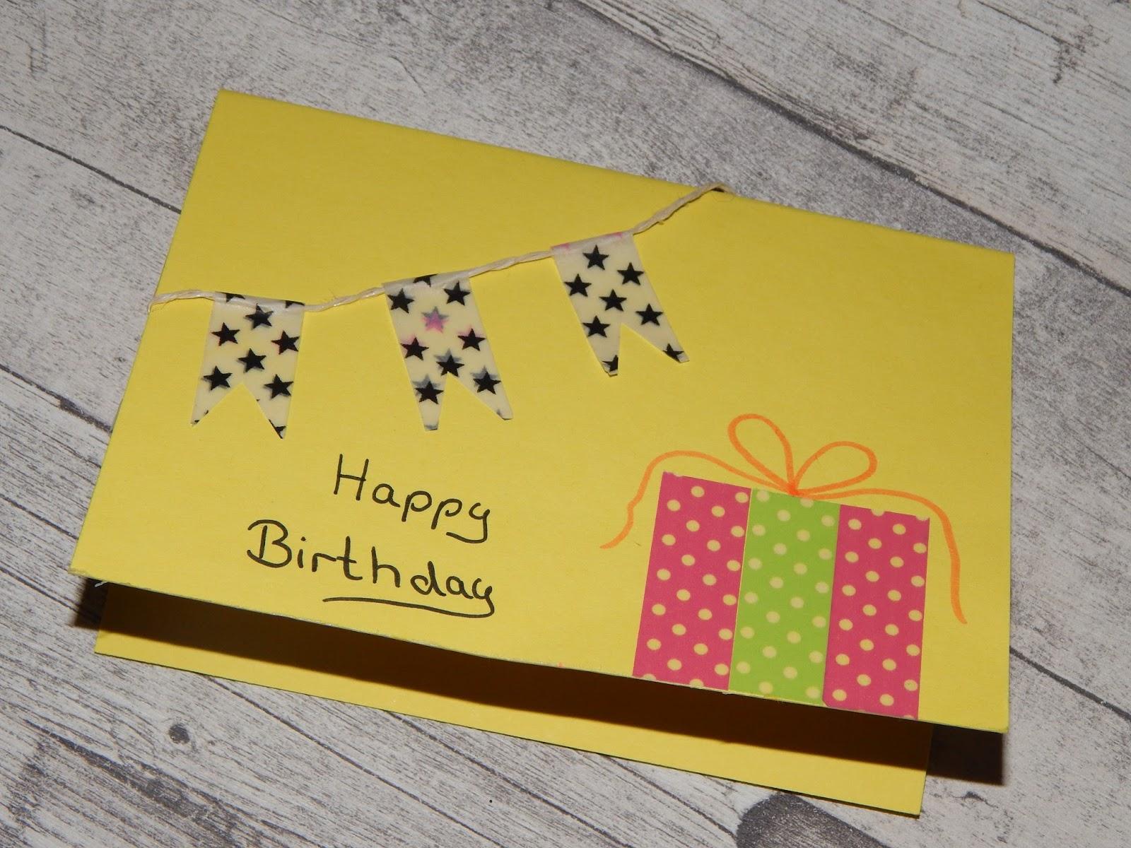 Familie Und Mehr Mit Kindern Geburtstagskarten Basteln