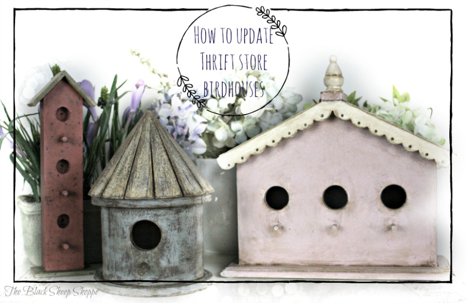How to update thrift store birdhouses.