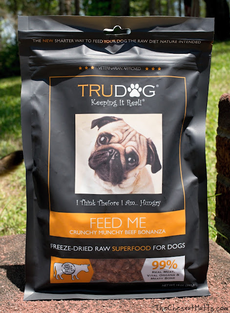 TruDog Crunchy Munchy Beef Bonanza freeze-dried raw dog food