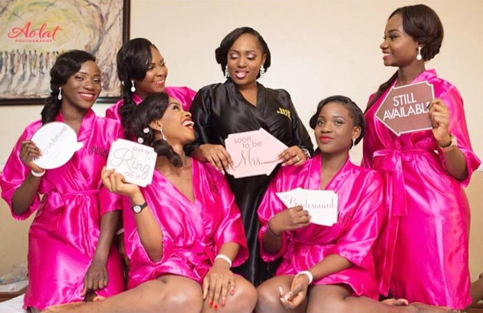 Check out this bride-to-be and her girls in creative pre-wedding photo