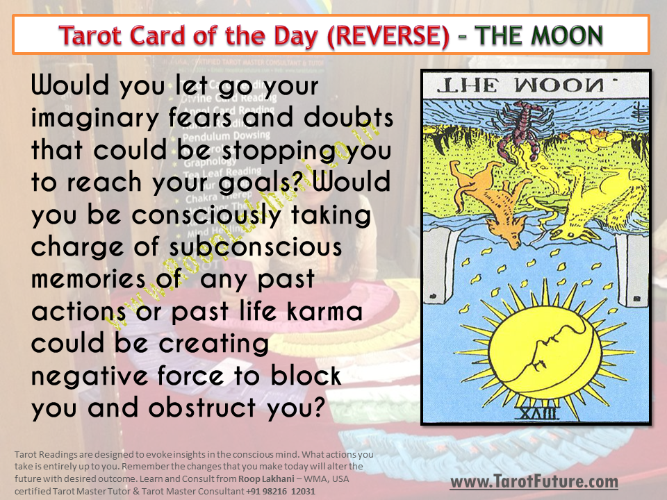 Tarot Card of the Day (REVERSE) – THE MOON | Roop Lakhani