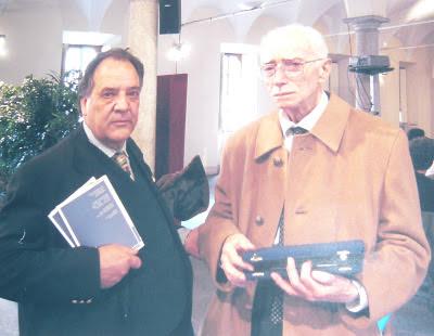 Nelson Rodriguez e il Prof. F. Soresini, al Museo della Scienza e della Tecnica di Milano.