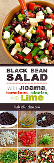 Black Bean Salad with Jicama, Tomatoes, Cilantro, and Lime found on KalynsKitchen.com