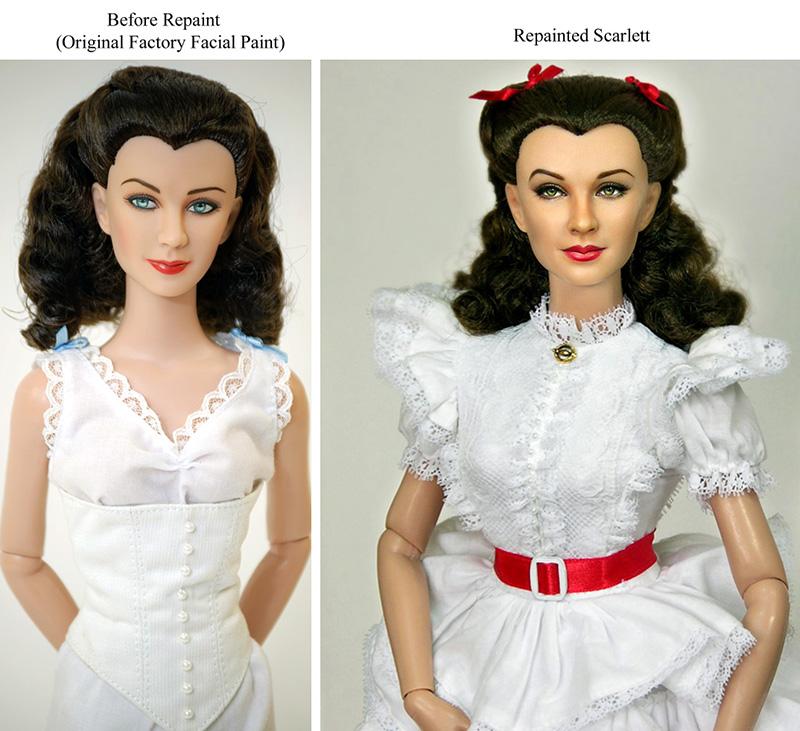 repainted Vivien Leigh as Scarlett O'Hara Doll