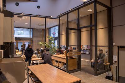Inside Allpress Espresso Tokyo Roastery & Cafe, Kiyosumi-Shirakawa, Koto-ku, Tokyo.