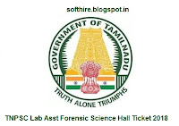 TNPSC Lab Asst Forensic Science Hall Ticket