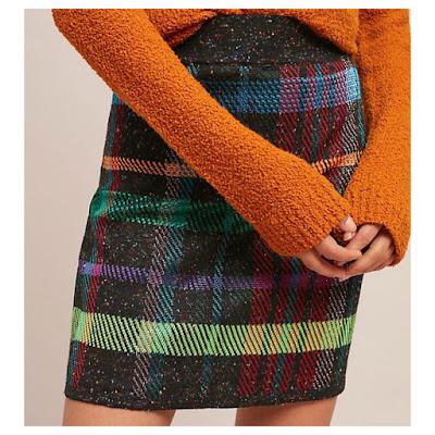 Anthropologie Plaid Mini Skirt