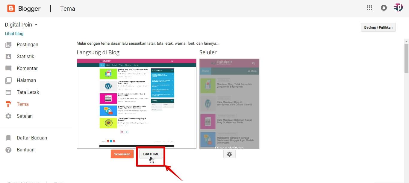Melakukan Backup Kode Template Blog