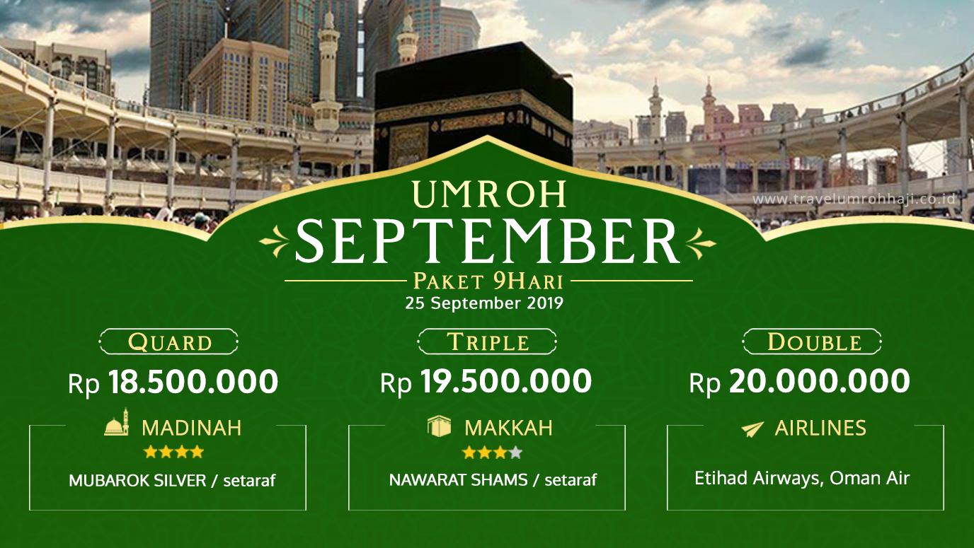 Promo Paket Umroh Biaya Murah Jadwal Bulan September 2019