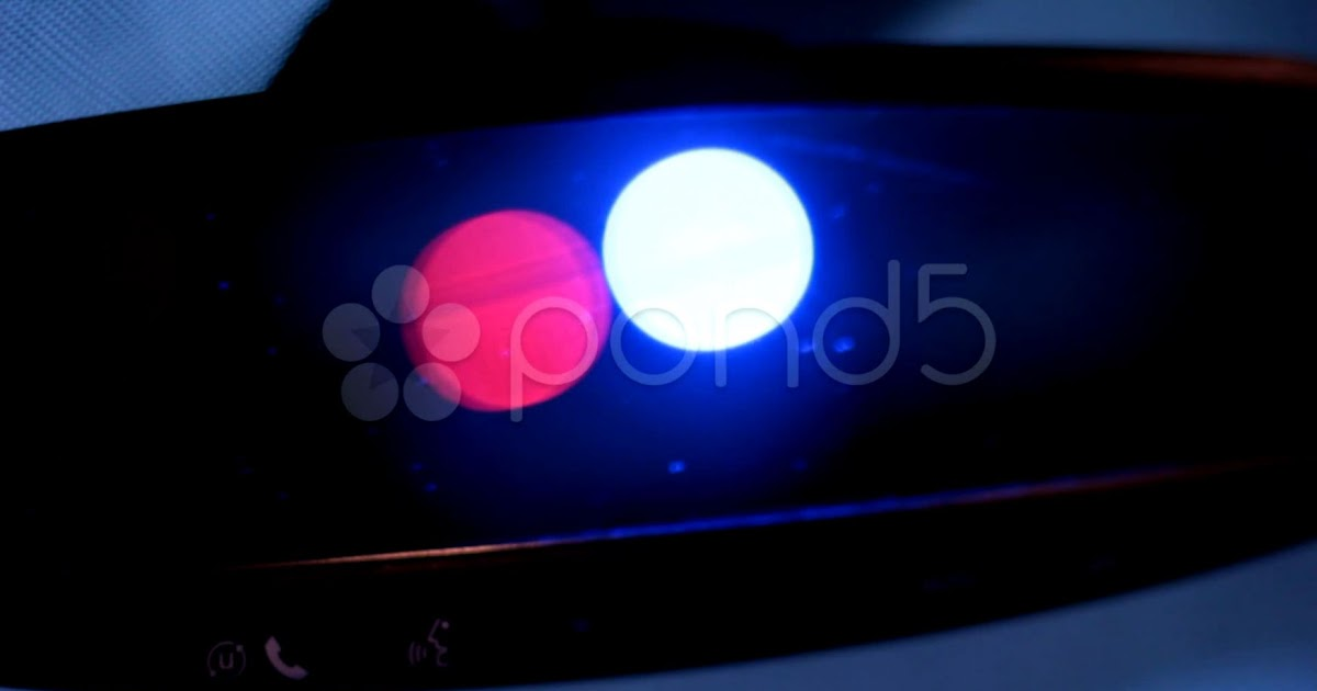 Police Lights In Rear View Mirror Amazing Wallpapers