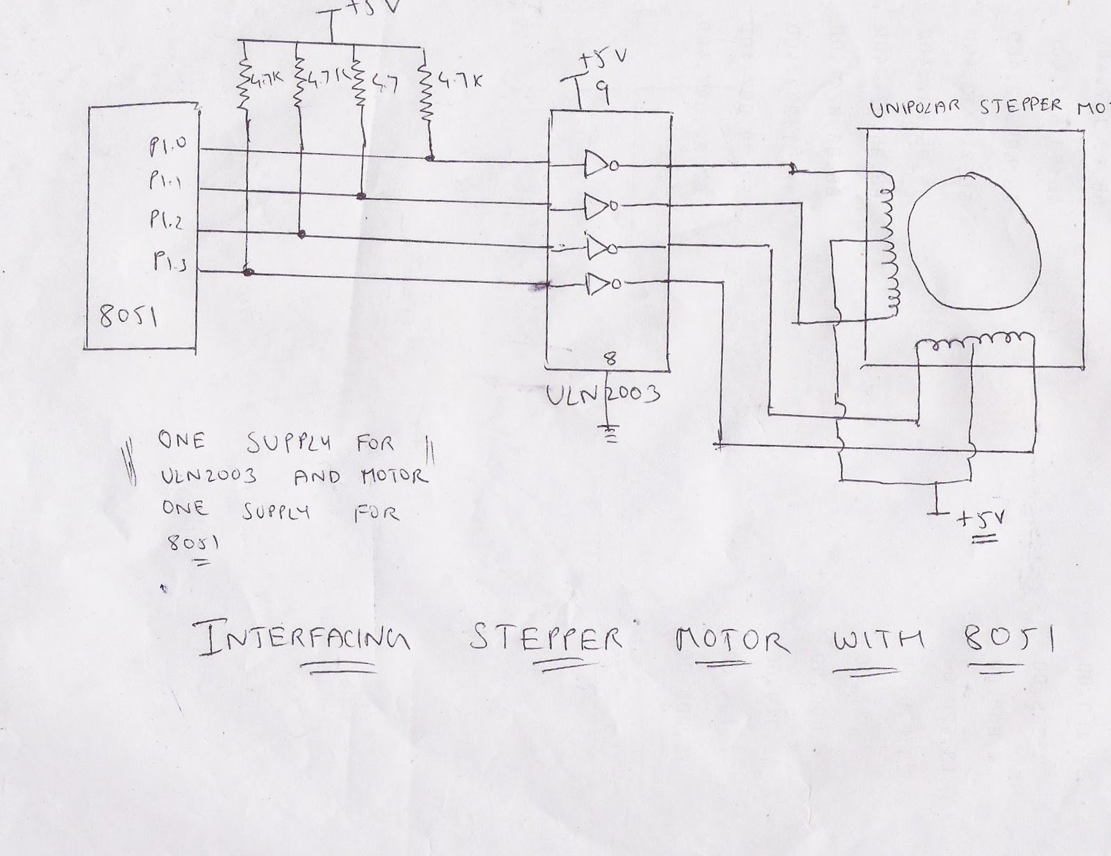 Microprocessor and microcontroller 8051 interfacing with for Stepping motors and their microprocessor controls