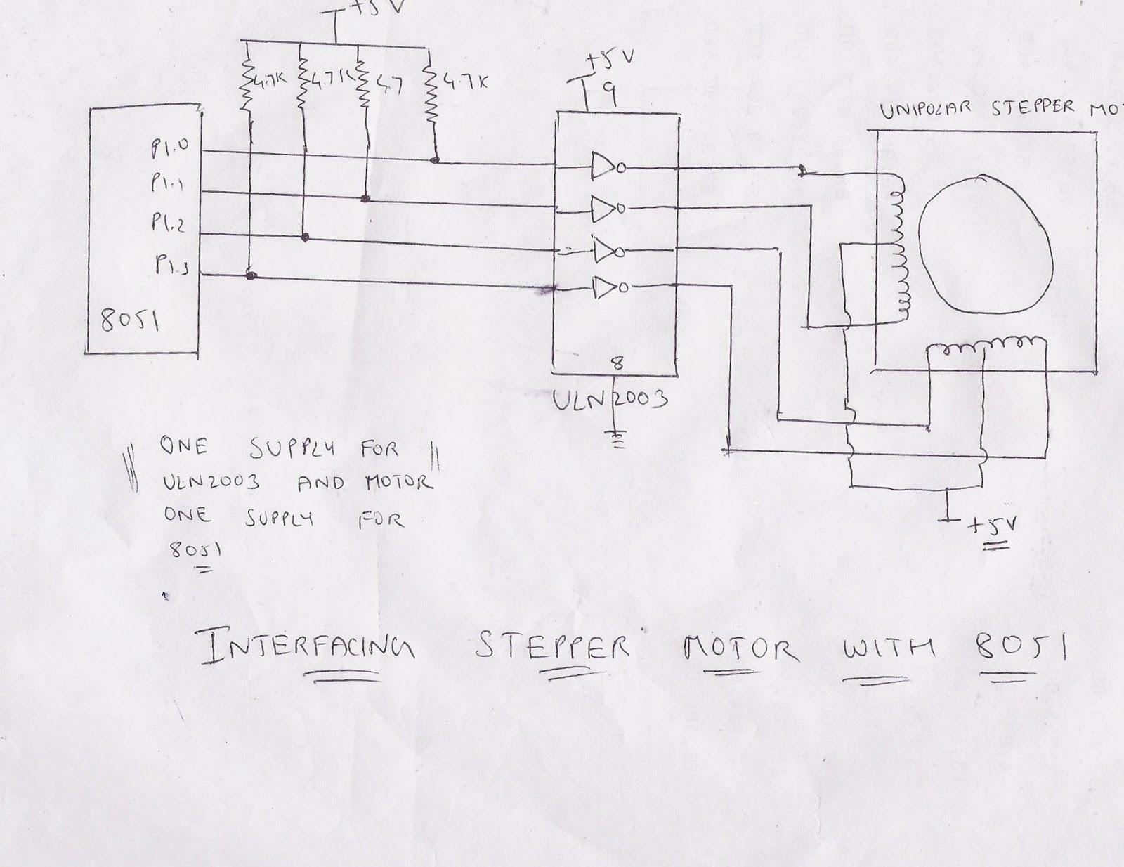 Servo Motor 8051 Block Diagram Wiring Libraries Black Box Using 8051block And Explanation Of Each Blocks Microprocessor Microcontroller Interfacing With Stepper Motor8051