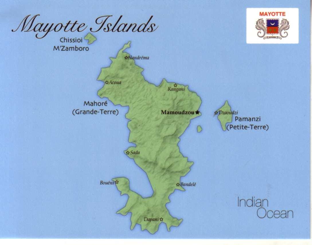 Mapas de Mayotte | França