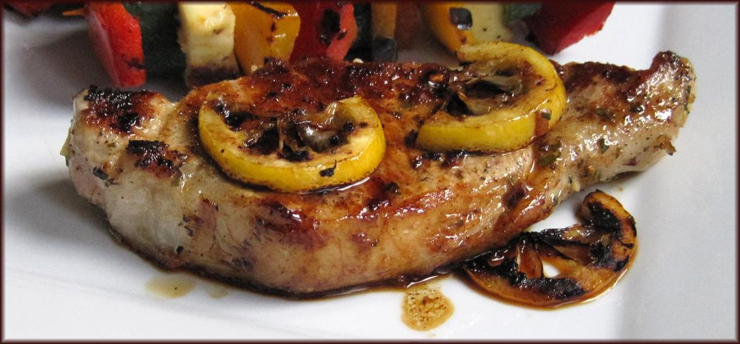 Pan-fried Pork with Lemon Garlic and Rosemary