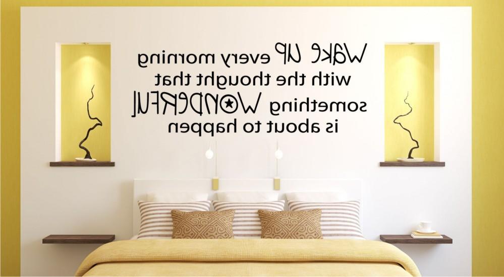 lettering dinding kamar tidur