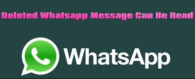 Deleted Whatsapp Message Can Be Read
