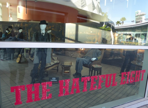 Hateful Eight movie costume display