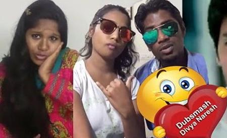 Tamil actors dubsmash videos | Dubsmash Divya Naresh Video-1