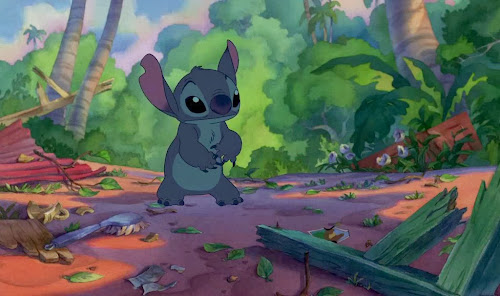 Screen Shot Of Hollywood Movie Lilo & Stitch (2002) In Hindi English Full Movie Free Download And Watch Online at worldfree4u.com