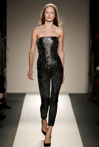 The designer Balmain played around mixing corsets with grunge 6fccc2244