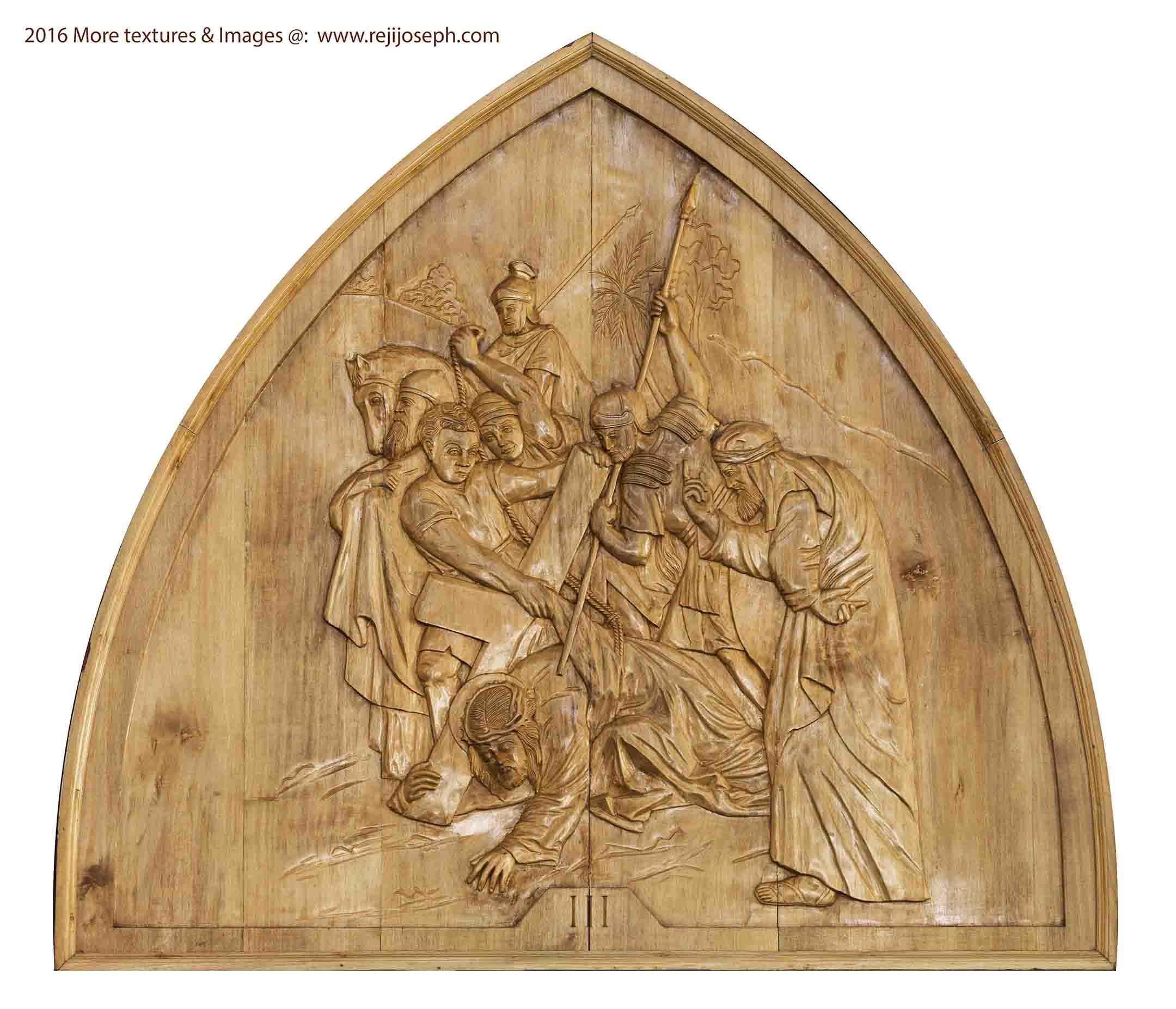 Way of the cross wooden relief 003