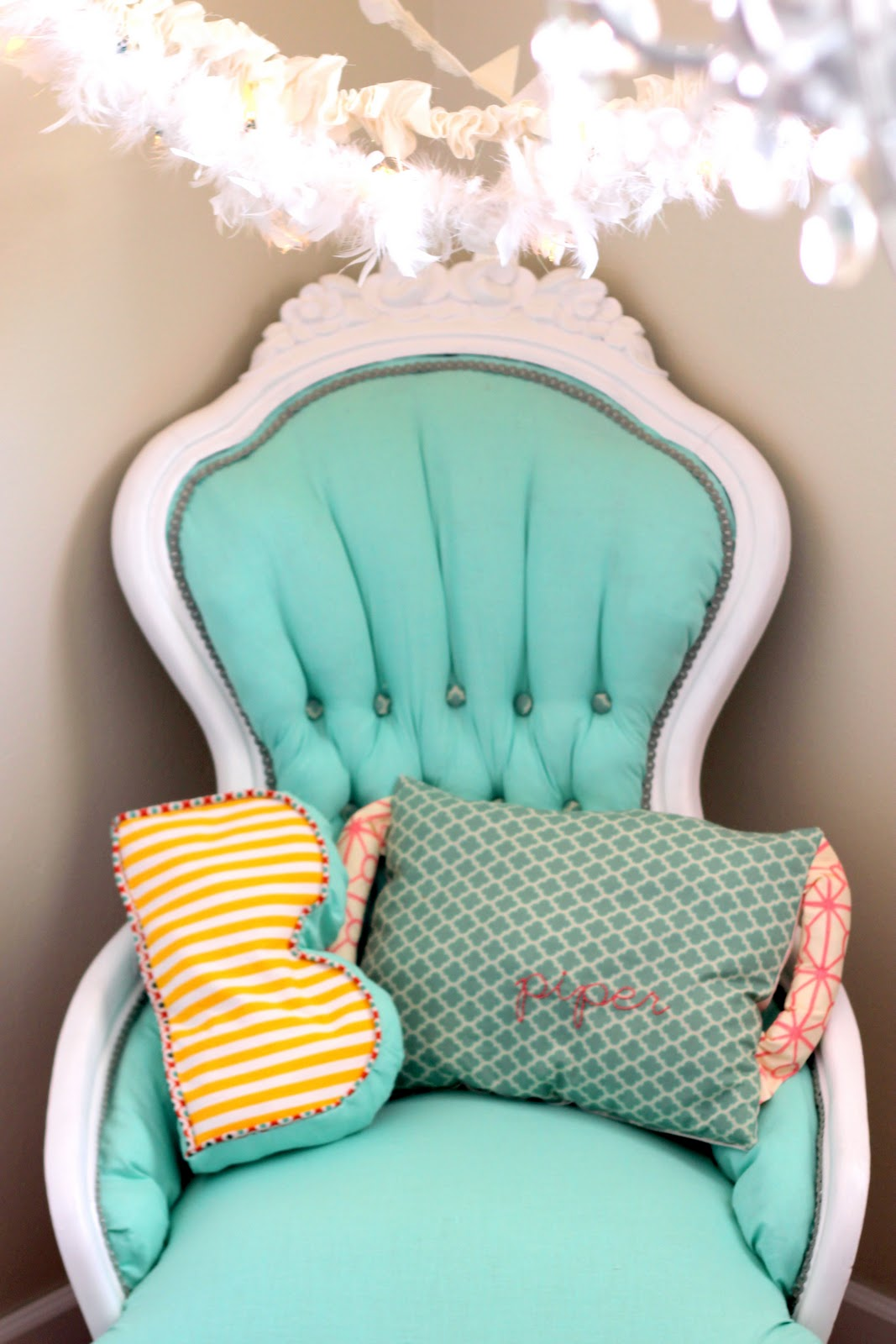teal tufted chair covers leicester aqua redo tutorial how to reupholster a