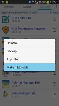 نقل التطبيقات والملفات الى بطاقة الميموري الذاكرة الخارجية SD