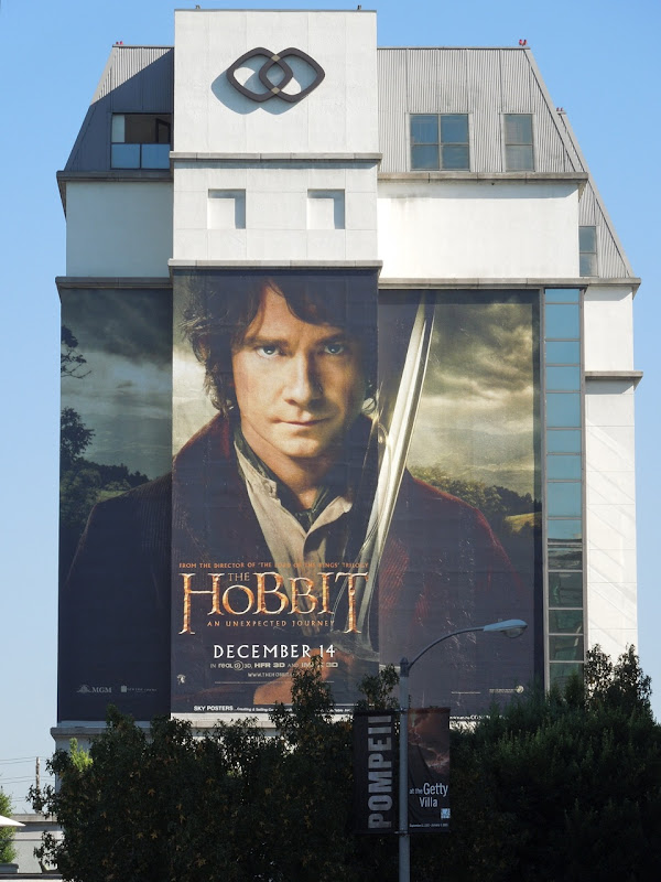 Giant Hobbit billboard